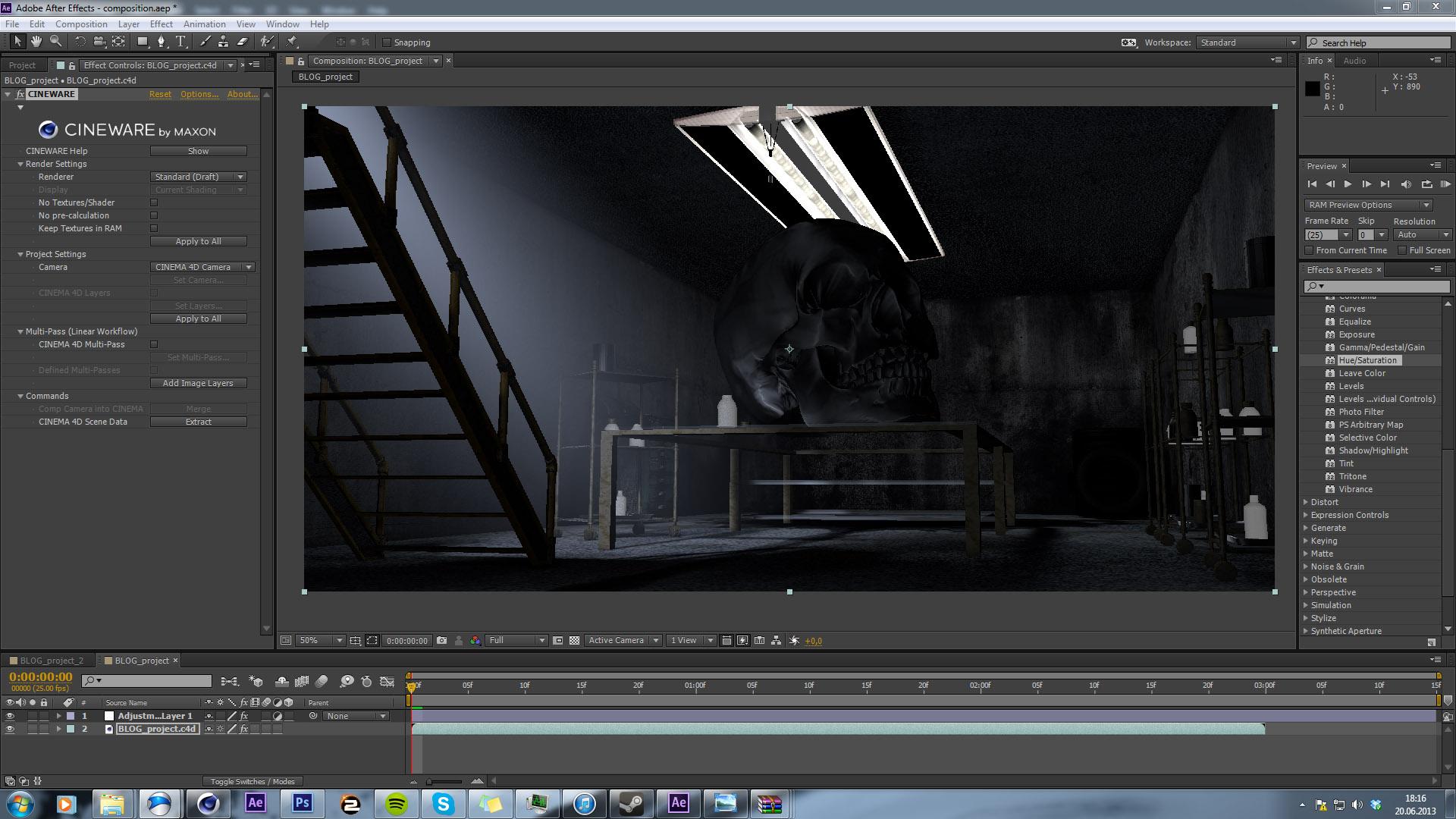 Cinema 4D Lite & After Effects CC - CINEWARE im Praxistest | 3D News