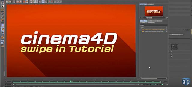 cinema 4d tutorial swipe in text animation wie im. Black Bedroom Furniture Sets. Home Design Ideas