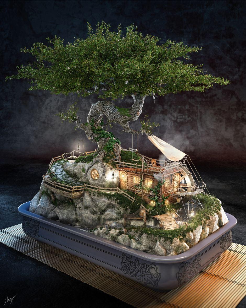 3d-3dsmax-zbrush-realflow-photoshop-bonsai-jose-klaus